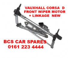 VAUXHALL  CORSA  D   FRONT  WIPER  MOTOR + LINKAGE  NEW   2009 - 2010 - 2011  NEW